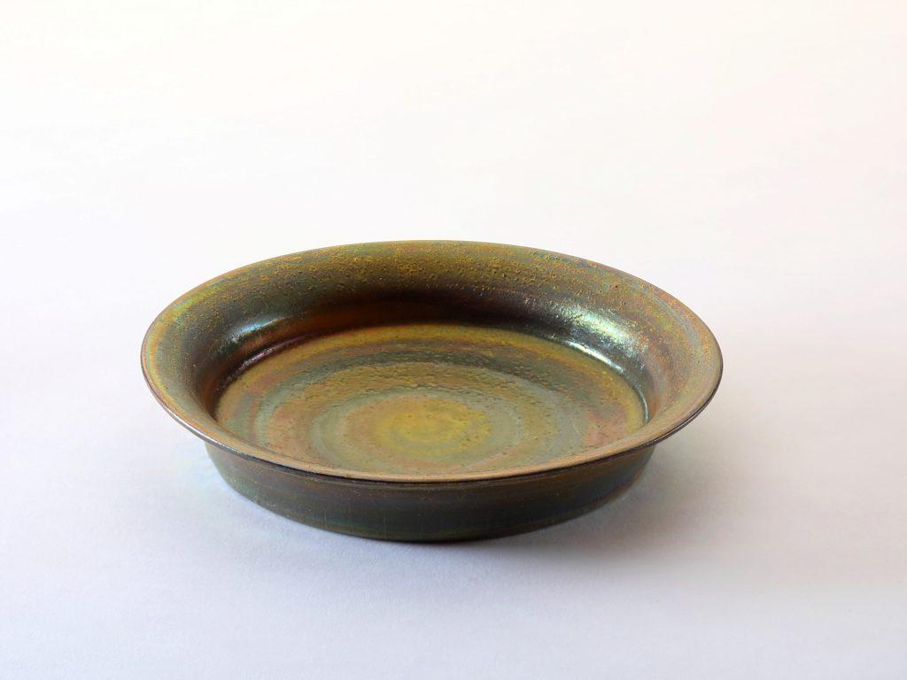 陶芸家中野拓が月をモチーフに創作した器 彩泥ブロンズ colored slip ware pottery ceramic art Moon-inspired created by a ceramist Taku Nakano